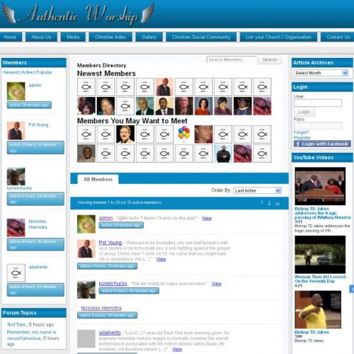 Social Networing Section