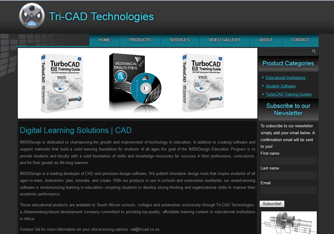 Tricad Website Redesign 1