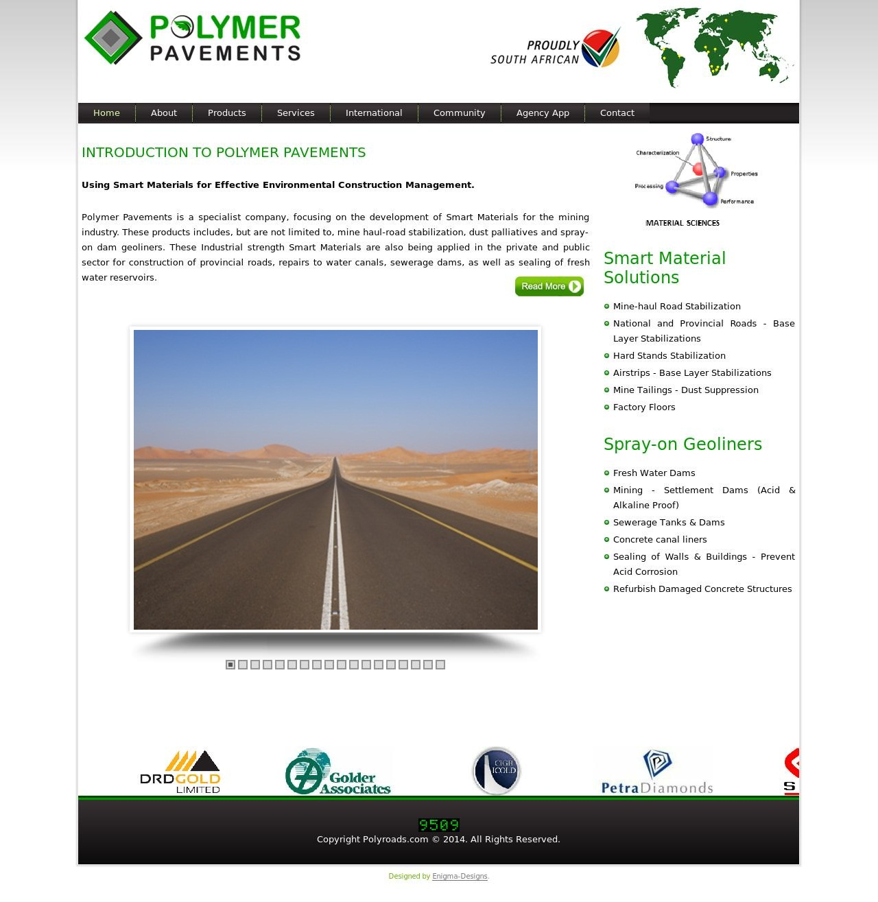 Polymer Pavements – Website Redesign