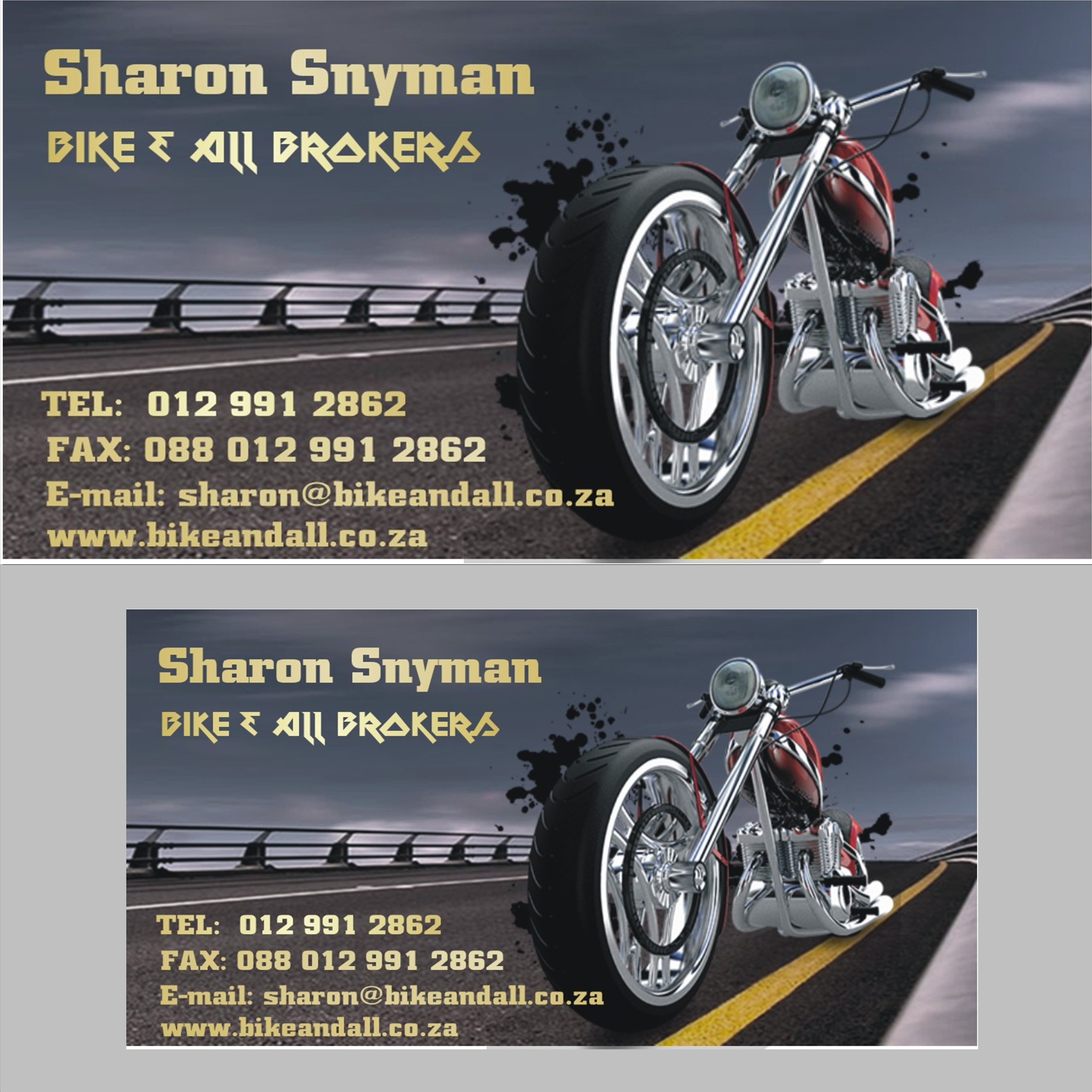 Bike and All Brokers Business Card Design 1