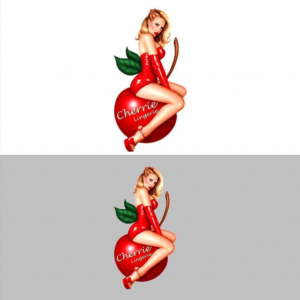 Cherrie Lingerie Logo Design